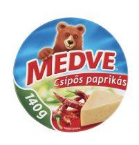 Medve Streichkäse in Dreieckform, mit scharfe Paprika, 8x17.5 gr