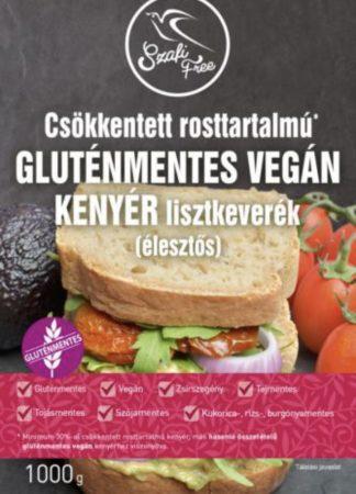 """Szafi """"Csökkentett rosttartalmú GLUTÉNMENTES VEGÁN KENYÉR lisztkeverék élesztős kenyérhez"""", 1 kg"""