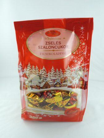 Weihnachtsbonbon mit Gelee, umhüllt in dunkle Schokolade, 350 gr