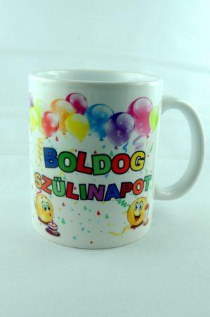 """""""BOLDOG SZÜLINAPOT"""" porcelán bögre, 325 ml"""