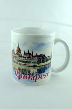 """Budapest Parlament"" porcelán bögre, 325 ml"