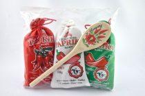 Gemahlene Paprika mit Kochlöffel, süss und scharf, 3x50 gr