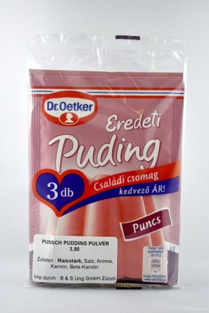 Pudingpor, puncs, 3x40 gr/csomag