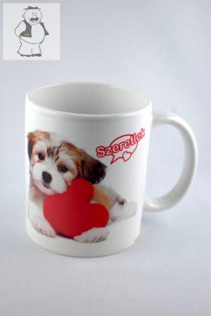 """Porzellantasse """"Hund und Ich liebe dich"""", 325 ml"""