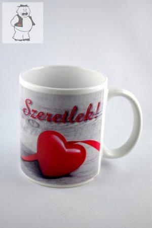 """""""Szeretlek"""" porcelán bögre, 325 ml"""
