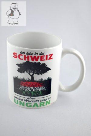 """Porzellanbecher """"Ich lebe in der Schweiz"""", 325 ml"""