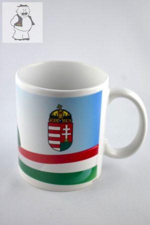 """""""Magyar zászló"""" porcelán bögre, 325 ml"""