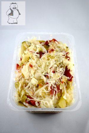 Eingelegtes, geschnittenes Kraut mit Gemüse, mittelscharf 600 gr